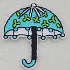 Sun umbrella Embroidered iron on patch sewn applique Motif For Clothing Sequin
