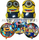 5PCES DESPICABLE ME MINIONS BALLOONS KIDS BIRTHDAY PARTY DECOR FAVOR GIFT