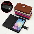 For Samsung S6 S6 Edge Note4 Mental Buckle Card Holder Wallet Leather Case Cover