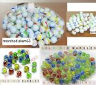 100x HI-QUALITY MILKY Coloured MARBLES Kids Glass Toys Traditional Games Retro A