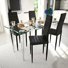 Slim Line Dining Chair Office Chair Artificial Leather Black/Brown/White 2/4 pcs