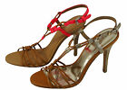 Coach Womens Lana Pink Or Light Gold Strappy Casual Ankle Strap Sandals Heels