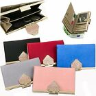 Women Medium Purse Cow Leather Wallet Clutch Trifold Woman Window Bill Coin3218B