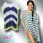 TUNIKA 34-40 STRAND KLEID MINIKLEID SHIRT BLUSE TOP BIKINI COVER UP ♥ 14513 13