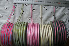GEORGIE 6mm 5 Colour Combos Sheer & Stitched 5Metre Length Multi List Vand SHall