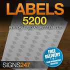 5200no. PRINTED ADDRESS LABELS Self Adhesive Return Address PERSONALISED LABELS
