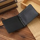 Men's #G Genuine Leather ID Credit Card Holder Purse Billfold Wallet Money Clip