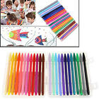 12/24 Pack Smooth Fibre Tipped Drawing Marhers Painting Colouring Gel Pens 0.3mm