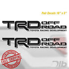 TOYOTA TRD OFF ROAD Decals Stickers 1 PAIR truck bed Offroad Tacoma Tundra Decal