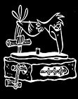New Mens T Shirt Flintstones-Dj Turntable-retro Style-Print Cotton Music Tee