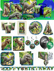 Jurassic World Party Invites Birthday Tableware Plates Napkins Banner Decoration