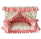 New Princess Cotton Handmade Curtain Pet Dog Cat Bed House Sofa Frame Steel XS-M