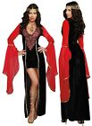 High Low Renaissance Maiden Chiffon Peasant Sleeves Wench Juliet Costume Dress