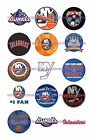 "NEW YORK ISLANDERS 1 "" CIRCLES  BOTTLE CAP IMAGES. $2.45-$5.50 FREE SHIPPING $5.5 USD on eBay"