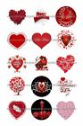 """RED VALENTINE 1 """" CIRCLES BOTTLE CAP IMAGES. $2.45-$5.50 ***FREE SHIPPING***"""