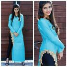 Bollywood Inspired- Designer Sky Blue Fancy Kurti - Apple Kurti-04