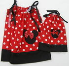 "LOVEFEME Minnie Mouse Pillowcase Dress Girls & 18"" Doll Size 1T,2T,3T Cotton"