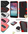 For ZTE Zmax Pro Z981 Hard Shockproof Armor Hybrid Rubber Protective Case Cover
