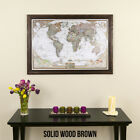 Executive World - Travel Map with Pins - Pin Your Travels - Great Gift!