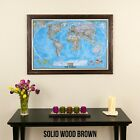 Classic World Map - Travel Map with Pins - Great Gift Idea - Travel the World