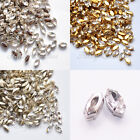 5x10mm Glass Navette Clear Crystal Fancy Stones Sew On Rhinestones Sewing Beads