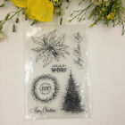 DIY Tree Flower Mixed Transparent Silicone Clear Stamp Cling Seal Scrapbooking