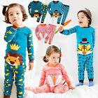 "Vaenait Baby Toddler Kids Boys Girls Clothes Pajama Set ""Secret Animal"" 12M-7T"