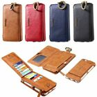 Removable Ratro Business Real Leather 18 Card Case Wallet For Samsung Galaxy S7