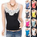 Stretchy Floral Embroidery Summer Casual Camisole Cami Tank Top