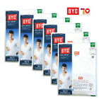 Men's Undershirts BYC1903 Cotton 100% White Short Sleeves 6-Pack Innerwear Top
