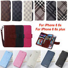 US Luxury Deluxe Leather Wallet Case Cover Phone Skin For Apple iPhone 6 6s Plus