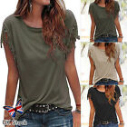 Fashion Tassels Plain Cap Sleeve Loose T-Shirt  Summer Casual Tops Blouse Ladies