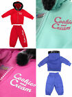 Little Girls Baby Infants Full Fleece Tracksuit Hoody Diamante Glitter Bling
