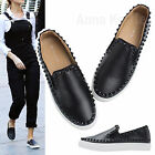 AnnaKastle New Womens Studded Slip Ons Skate Sneakers Black US 5 6 7 8