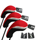 3PCs Golf Club Head Covers - 1 , 3 & 5 Wood Driver Head Covers Set Replacement