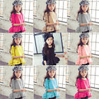 New Baby Girls Kids Toddler Long Sleeve Clothes Ruffle Shirt T-shirt Tops Blouse