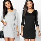 Fashion Womens Ladies Casual Short Shirt Dress Top T-shirt Mini Short Dress