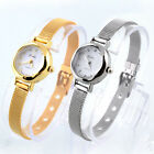 Women Stainless Steel Golden Band Strap Dial Wrist Watch Bling Watches