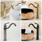 Luxury Brass Gold Antique Bathroom Basin Sink Mixer Tap Faucet Single Handle