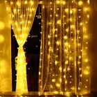 3m X 3m 8 Modes 306 Led Christmas Curtain String Fairy lights Window Wall Light