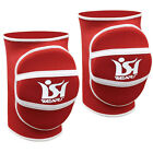 Knee Pads Elastic Nonslip Volleyball Martial Art Basketball Protector Red PAIR