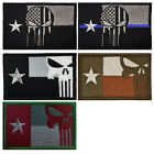 5 PCS TEXAS FLAG TX FLAG PUNISHER USA ARMY TACTICAL MILITARY EMBROIDERED PATCHES