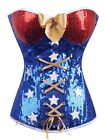 Wonder Woman Comic Book Heroine Costume Size S-6XL Blue Corset Bustier  RD A2366