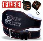 "EVO 6"" 4"" Pure Leather Gym Belts Weightlifting Back Support Strap Bodybuilding"