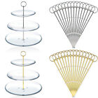 10 Metal gold/Silver MINI Round Plate Cake Stand Centre Handle Sets Fittings