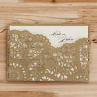 Personlize Gilding Gold Laser Cut Wedding Party Invitations With Envelope Seals