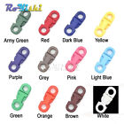 Colorful 5mm Hole's DIA Straight Flat Side Release Plastic Buckles For Paracord