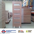 5S Translucent Glass French Solid Timber Doors 2340mm Hardwood External Entry