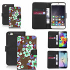 pu leather wallet case for lots of Mobile phones - alluring floral