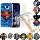 For Samsung Galaxy S7 Edge G9350 2X Glass Film Hard Case Cover Elephant Superman